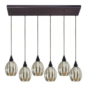 Danica - 6 Light Rectangular Pendant in Transitional Style with Luxe/Glam and Modern Farmhouse inspirations - 9 Inches tall and 9 inches wide