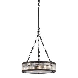 Linden Manor - 3 Light Chandelier in Transitional Style with Art Deco and Luxe/Glam inspirations - 26 Inches tall and 20 inches wide