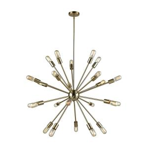 Delphine - Twenty-4 Light Chandelier in Modern/Contemporary Style with Mid-Century and Retro inspirations - 36 Inches tall and 36 inches wide
