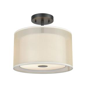 Ashland - 12 Inch Two Light Semi-Flush Mount