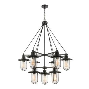 Lakeshore Drive - 9 Light 2-Tier Chandelier in Transitional Style with Coastal/Beach and Country inspirations - 45 Inches tall and 36 inches wide