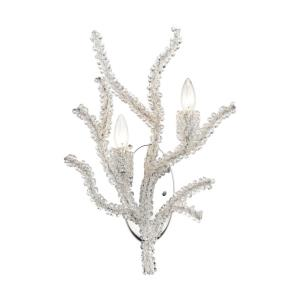 Winter's Spray - 2 Light Wall Sconce in Modern/Contemporary Style with Luxe/Glam and Nature/Organic inspirations - 21 Inches tall and 14 inches wide