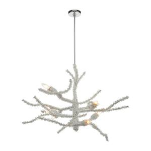 Winter's Spray - 8 Light Chandelier in Modern/Contemporary Style with Luxe/Glam and Nature/Organic inspirations - 28 Inches tall and 39 inches wide