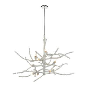 Winter's Spray - 12 Light Chandelier in Modern/Contemporary Style with Luxe/Glam and Nature/Organic inspirations - 38 Inches tall and 48 inches wide