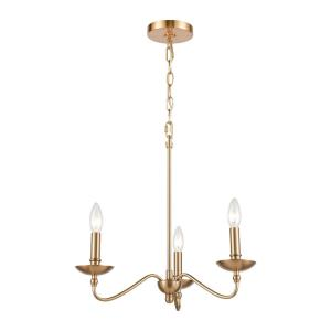 Wellsley - 3 Light Chandelier in Traditional Style with French Country and Vintage Charm inspirations - 16 Inches tall and 18 inches wide
