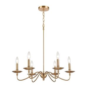 Wellsley - 6 Light Chandelier in Traditional Style with French Country and Vintage Charm inspirations - 23 Inches tall and 25 inches wide