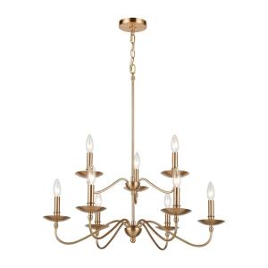 Wellsley - 9 Light 2-Tier Chandelier in Traditional Style with French Country and Vintage Charm inspirations - 28 Inches tall and 28 inches wide
