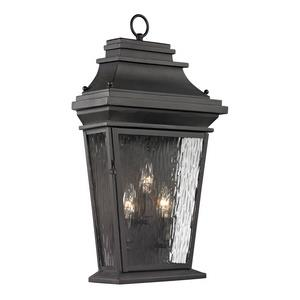 Forged Provincial - Three Light Outdoor Wall Sconce