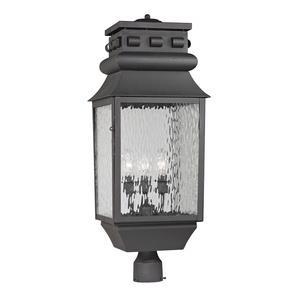 Forged Lancaster - Three Light Post Lantern
