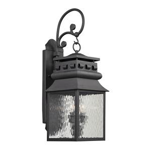 Forged Lancaster - Two Light Outdoor Wall Sconce
