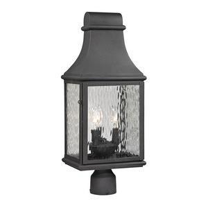 Forged Jefferson - Three Light Outdoor Post Mount
