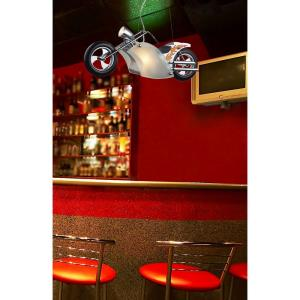 Novelty - Three Light Motorcycle Pendant