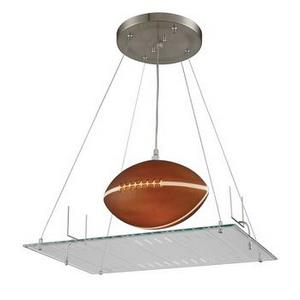 Novelty - One Light Football Field Motif Pendant