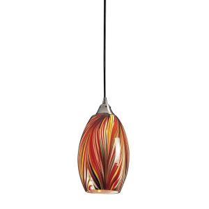 Mulinello - 9.5W 1 LED Mini Pendant in Transitional Style with Boho and Eclectic inspirations - 11 Inches tall and 6 inches wide
