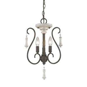 "Porto Cristo - 19"" Three Light Chandelier"