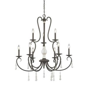 Porto Cristo - Nine Light 2-Tier Chandelier