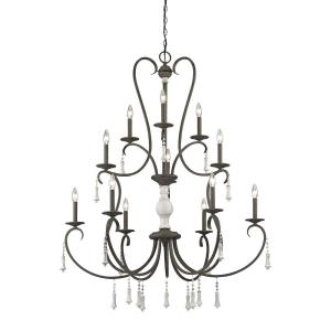 Porto Cristo - 12 Light Chandelier in Traditional Style with French Country and Rustic inspirations - 53 Inches tall and 42 inches wide