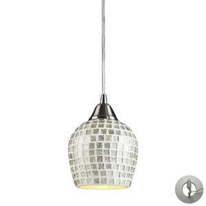 Fusion - 1 Light Mosaic Glass Tile Mini Pendant