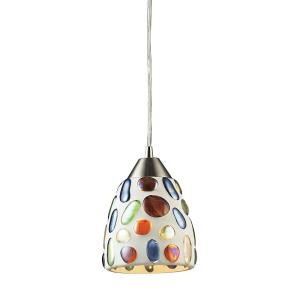 Gemstone - 9.5W 1 LED Mini Pendant in Modern/Contemporary Style with Southwestern and Boho inspirations - 8 Inches tall and 6 inches wide