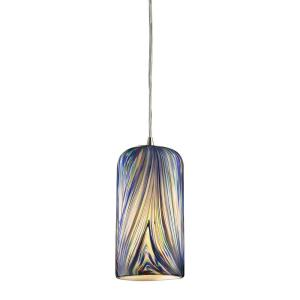 Molten - 13.5W 1 LED Pendant in Transitional Style with Boho and Retro inspirations - 11 Inches tall and 5 inches wide