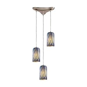 Molten - 3 Light Triangular Pendant in Transitional Style with Boho and Retro inspirations - 11 Inches tall and 5 inches wide