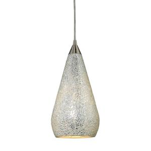 Curvalo - 9.5W 1 LED Mini Pendant in Transitional Style with Mid-Century and Scandinavian inspirations - 13 Inches tall and 6 inches wide