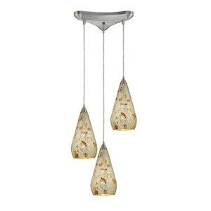 Curvalo - Three Light Triangular Pendant