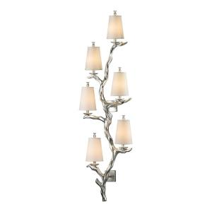 Sprig - 6 Light Wall Sconce in Transitional Style with Nature-Inspired/Organic and Coastal/Beach inspirations - 65 Inches tall and 19 inches wide