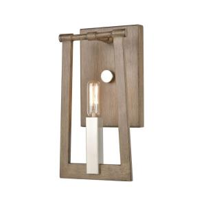 Axis - 1 Light Wall Sconce in Transitional Style with Modern Farmhouse  and Urban/Industrial  inspirations - 12 Inches tall and 6 inches wide