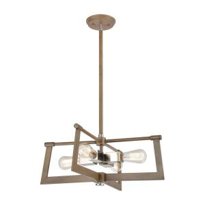 Axis - 4 Light Pendant in Transitional Style with Modern Farmhouse and Urban/Industrial inspirations - 8 Inches tall and 21 inches wide