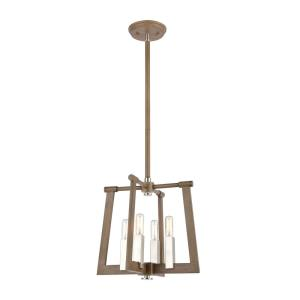 Axis - 4 Light Pendant in Transitional Style with Modern Farmhouse and Urban/Industrial inspirations - 12 Inches tall and 13 inches wide