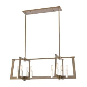 Axis - 8 Light Chandelier in Transitional Style with Modern Farmhouse and Urban/Industrial inspirations - 12 Inches tall and 36 inches wide
