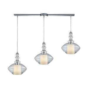Alora - 3 Light Linear Mini Pendant in Modern/Contemporary Style with Mid-Century and Scandinavian inspirations - 12 Inches tall and 36 inches wide