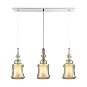 Alora - 3 Light Linear Mini Pendant in Modern/Contemporary Style with Mid-Century and Scandinavian inspirations - 18 Inches tall and 36 inches wide