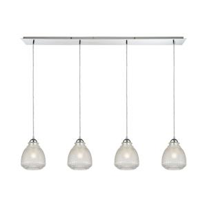 Victoriana - 4 Light Linear Pendant in Traditional Style with Victorian and Modern Farmhouse inspirations - 10 Inches tall and 46 inches wide