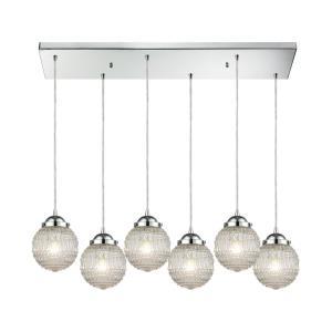 Victoriana - Six Light Rectangular Pendant