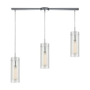 Swirl - 3 Light Linear Mini Pendant in Modern/Contemporary Style with Retro and Mid-Century Modern inspirations - 14 Inches tall and 38 inches wide