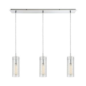 Swirl - 3 Light Linear Mini Pendant in Modern/Contemporary Style with Retro and Mid-Century Modern inspirations - 14 Inches tall and 36 inches wide