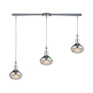 Ravette - 3 Light Linear Mini Pendant in Modern Style with Art Deco and Mid-Century Modern inspirations - 10 Inches tall and 38 inches wide