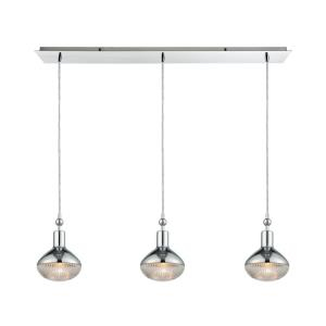 Ravette - 3 Light Linear Mini Pendant in Modern Style with Art Deco and Mid-Century Modern inspirations - 10 Inches tall and 36 inches wide