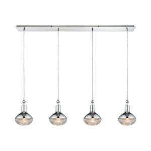Ravette - 4 Light Linear Pendant in Modern/Contemporary Style with Art Deco and Mid-Century Modern inspirations - 10 Inches tall and 46 inches wide