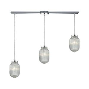 Dubois - 3 Light Linear Pendant in Modern/Contemporary Style with Art Deco and Mid-Century Modern inspirations - 83 Inches tall and 38 inches wide