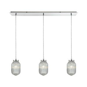 Dubois - 3 Light Linear Pendant in Modern/Contemporary Style with Art Deco and Mid-Century Modern inspirations - 83 Inches tall and 10 inches wide