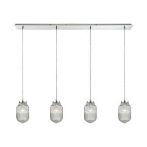 Dubois - 4 Light Linear Pendant in Modern/Contemporary Style with Art Deco and Mid-Century Modern inspirations - 83 Inches tall and 10 inches wide