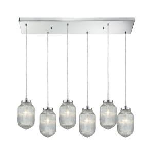 Dubois - Six Light Rectangular Pendant