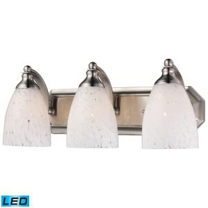 Mix- 28.5W 3 LED Bath Vanity in Transitional Style with Eclectic and Boho inspirations - 7 Inches tall and 20 inches wide