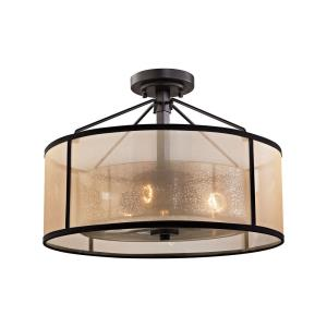 Diffusion - Three Light Semi-Flush Mount