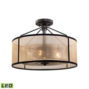 Diffusion - 28.5W 3 LED Semi-Flush Mount in Transitional Style with Luxe/Glam and Mid-Century Modern inspirations - 13 Inches tall and 18 inches wide