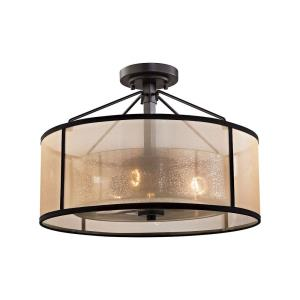 Diffusion - 3 Light Semi-Flush Mount in Transitional Style with Luxe/Glam and Mid-Century Modern inspirations - 13 Inches tall and 18 inches wide