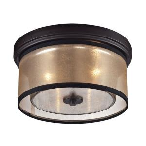 Diffusion - 2 Light Flush Mount in Transitional Style with Luxe/Glam and Mid-Century Modern inspirations - 6 Inches tall and 13 inches wide